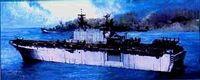 """Авианосец """"U.S.S. Tarawa"""" (масштаб: 1/700)"""