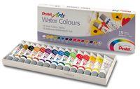 """Краски акварельные """"Pentel Water Colours"""" (15 цветов)"""