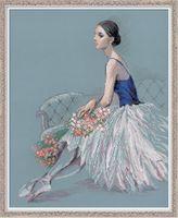 """Вышивка крестом """"Балерина"""" (400x500 мм)"""