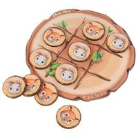 """Деревянная игрушка """"Крестики-нолики. Лисички и зайчики"""""""