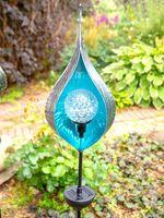 """Светильник садовый на солнечной батарее """"Бутон"""" (синий)"""