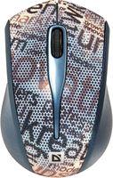 Мышь беспроводная Defender StreetArt MS-305 Nano (серая)