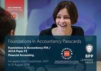 FIA Foundations of Financial Accounting FFA (ACCA F3). Passcards