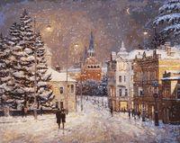 """Картина по номерам """"Снег на Волхонке"""" (400х500 мм)"""