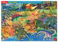 """Пазл-рамка """"Динозавры"""" (21 элемент)"""