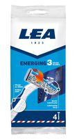 Станок для бритья одноразовый LEA Emerging 3 (4 шт)