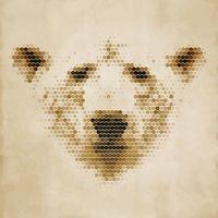 """Репродукция на холсте """"Медведь"""" (арт. КО-084)"""