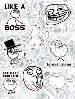 "Набор виниловых наклеек №213 ""Memes. Like a boss"""
