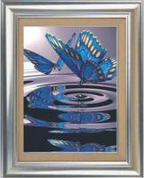 "Алмазная вышивка-мозаика ""Бабочки на воде"" (500х700 мм)"