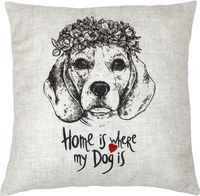 "Подушка ""Home is where my Dog is"" (40x40 см; арт. 07-890)"
