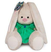 """Мягкая игрушка """"Зайка Ми в зелёном платье с бабочкой"""" (18 см)"""
