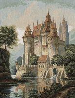 """Вышивка крестом """"Замок в горах"""" (275х365 мм)"""