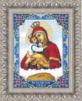"""Вышивка крестом """"Икона Пресвятой Богородицы Почаевской"""" (205х260 мм)"""