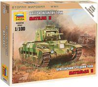 """Сборная модель """"Британский средний танк """"Матильда II"""" (масштаб: 1/100)"""