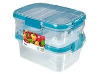 """Набор контейнеров для продуктов """"Fresh"""" (4 шт.; голубой)"""