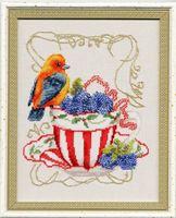 """Вышивка крестом """"Вкусняшки для пташки"""" (180х145 мм)"""