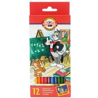 "Цветные карандаши ""Tom and Jerry"" (12 цветов)"