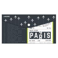 """Папка-конверт """"Next Stop Is Paris"""" (260х140 мм)"""