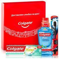 """Подарочный набор """"Total"""" (зубная паста, ополаскиватель, зубная щетка)"""