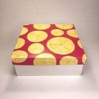 "Подарочная коробка ""Лимоны"" (19x19x7,5 см)"