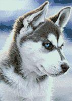 "Алмазная вышивка-мозаика ""Снежный пес"" (270х380 мм)"