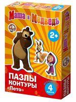 "Пазл ""Маша и Медведь. Лето"" (4 элемента)"
