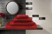 Полотенце махровое (50x100 см; красное)