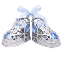 """Миниатюра """"Baby туфельки"""" (с голубыми кристаллами)"""