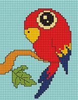 "Вышивка крестом ""Попугай"" (80х105 мм)"