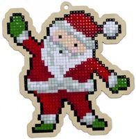 "Алмазная вышивка-мозаика ""Брелок. Санта-Клаус"" (108х112 мм)"