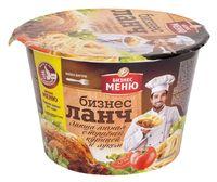 """Лапша быстрого приготовления с соусом """"Бизнес Ланч. Со вкусом тушеной курицы и луком"""" (90 г)"""