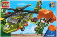 """Конструктор """"Армия. Военный вертолёт с парашютистом"""" (121 деталь)"""
