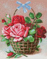 "Алмазная вышивка-мозаика ""Корзинка роз"" (240х300 мм)"