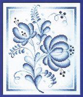 """Вышивка крестом """"Синие розы"""""""
