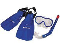 Набор для плавания 24200 (р.28-31; маска+трубка+ласты; синий)