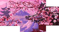 "Картина по номерам ""Горная сакура"" (200х300 мм; 300х400 мм; 400х500 мм)"