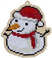 "Алмазная вышивка-мозаика ""Брелок. Снеговик"" (101х114 мм)"