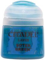 """Краска акриловая """"Citadel Layer"""" (sotek green; 12 мл)"""