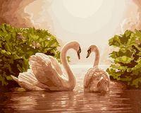 "Картина по номерам ""Лебеди"" (400х500 мм)"