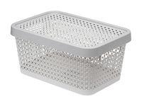"""Ящик для хранения с крышкой """"Пирула"""" (12,5х26,7х18,3 см; смоки)"""