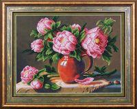 """Вышивка бисером """"Розовые пионы"""""""