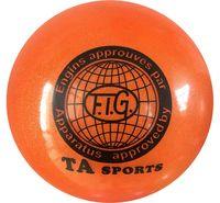 Мяч для художественной гимнастики RGB-102 (19 см; оранжевый с блёстками)