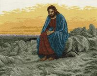 """Вышивка крестом """"Иисус"""" (350х400 мм)"""