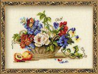 """Вышивка крестом """"Натюрморт с персиком"""" (арт. 864)"""