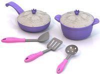 """Набор детской посуды """"Волшебная хозяюшка. Кухонный сервиз"""" (7 шт; арт. 614H)"""