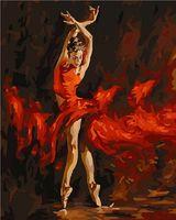 "Картина по номерам ""В огненном танце"" (400х500 мм)"