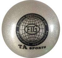 Мяч для художественной гимнастики RGB-102 (19 см; серый с блёстками)