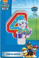"""Свеча для торта """"Цифра 4"""" (8 см)"""
