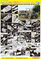 "Полугусеничный тягач ""Sd.Kfz.7 8t Half Track Initial Production"" (масштаб: 1/35)"