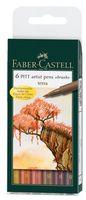 """Набор художественных ручек """"Pitt Artist Pen"""" (цвет: оттенки коричневого; 6 шт.)"""
